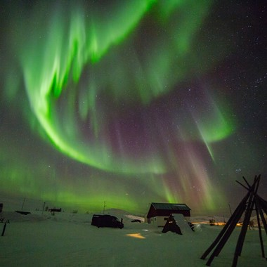 See the dancing northern lights on the Northern Lights on the Northern Lights & Norway in a nutshell® tour by Fjord Tours